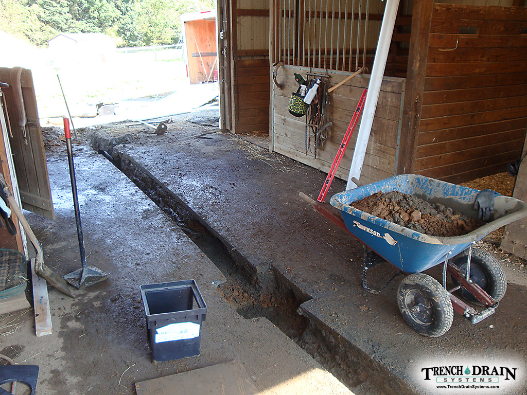 Trench Drain Systems Tupper Horse Barn Drain