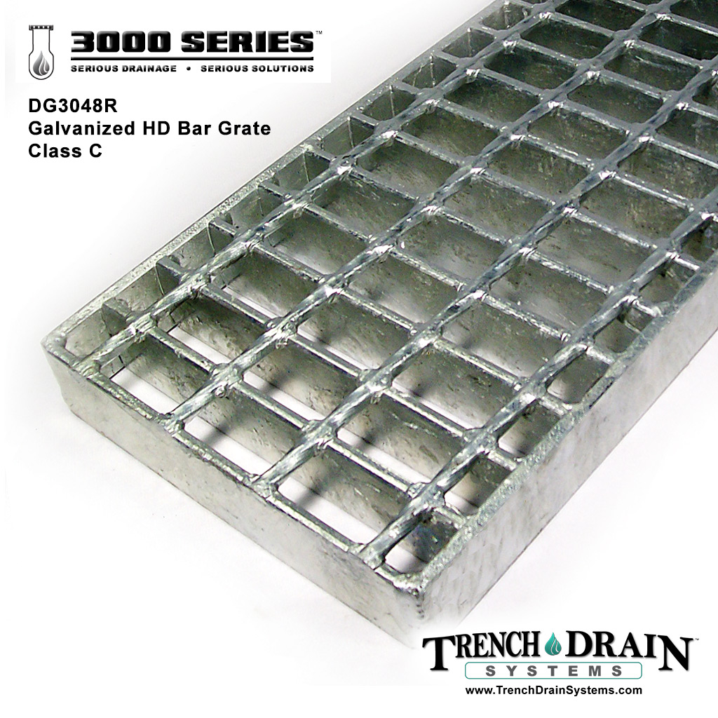 This Heavy Duty Galvanized Steel Framed Grill Island: Trench Drain Systems