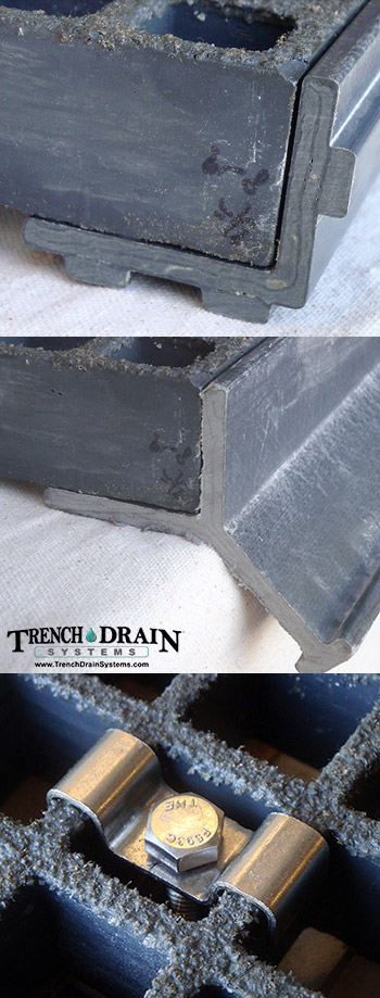 Trench Drain Systems Fiberglass Grating